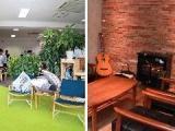 引っ越して1年のまだ新しいオフィス。代表のこだわりがいっぱい!ぜひ遊びに来てください。